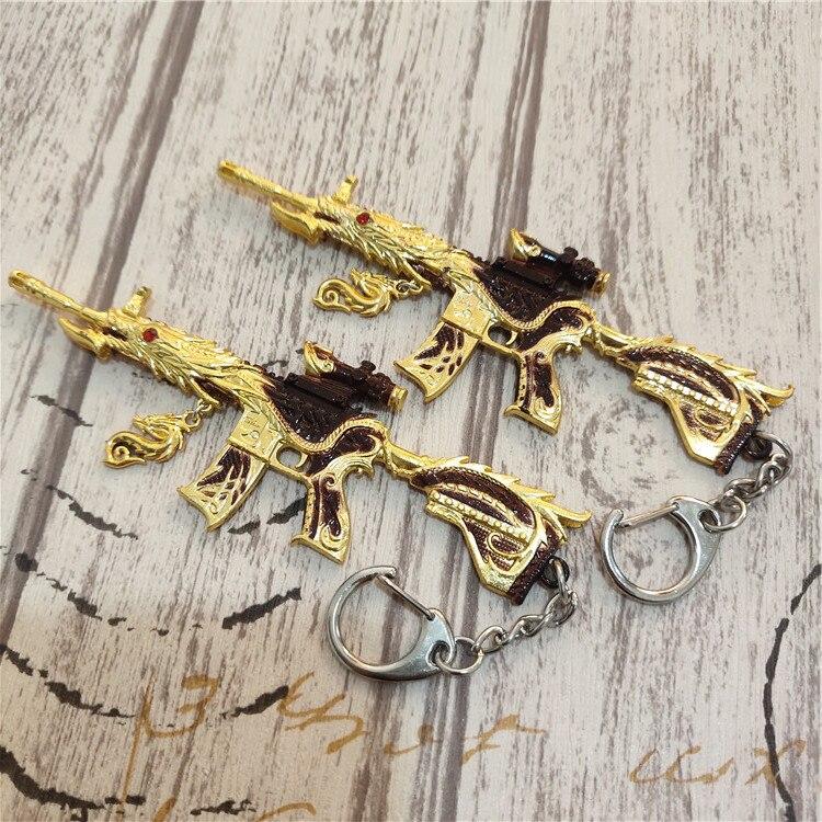 Стимулирует Battlefield Gun Модель m416 пять когтей золотой брелок в виде дракона едят куриное оборудование брелок аксессуары брелок