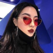 New Cateye Metal Sunglasses Women Men Big Frame Mirror Cat Eye Sun Glasses Brand Design Outdoor Shad