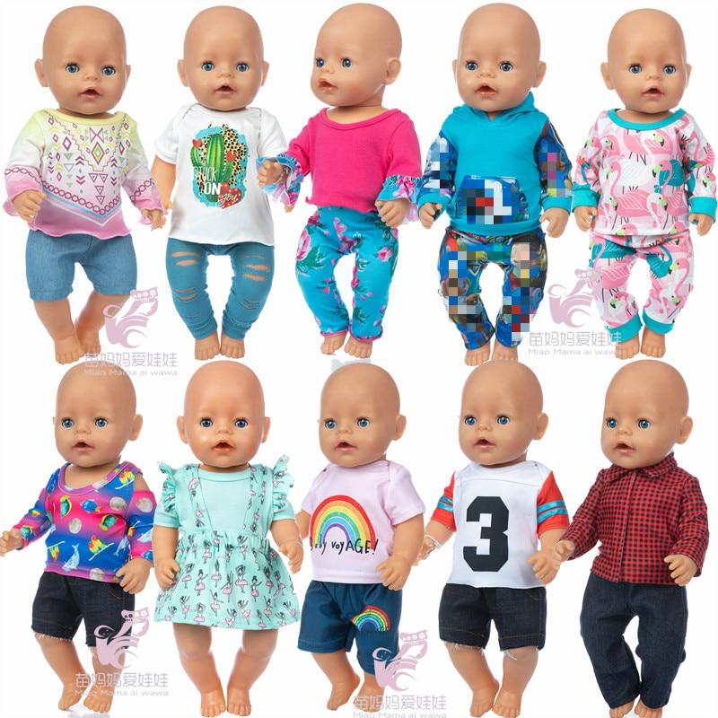 Кукольная одежда, детская кукольная одежда, платье-рубашка, 18 дюймов, американский og, кукольная одежда для девочек, одежда, брюки