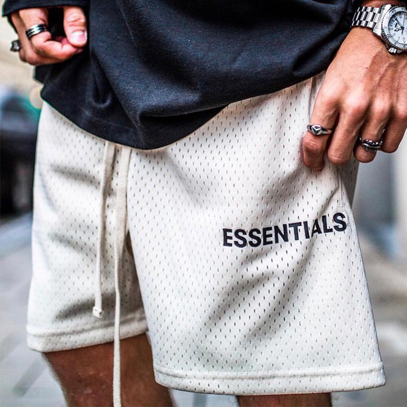 Мужские спортивные тренировочные двухрядные сетчатые штаны на шнуровке с буквами для скейтборда пятиконечные брюки баскетбольные шорты с...