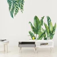 green leaves wall stickers for bedroom living room kitchen decor diy stickers vinyl wall decals home decoration