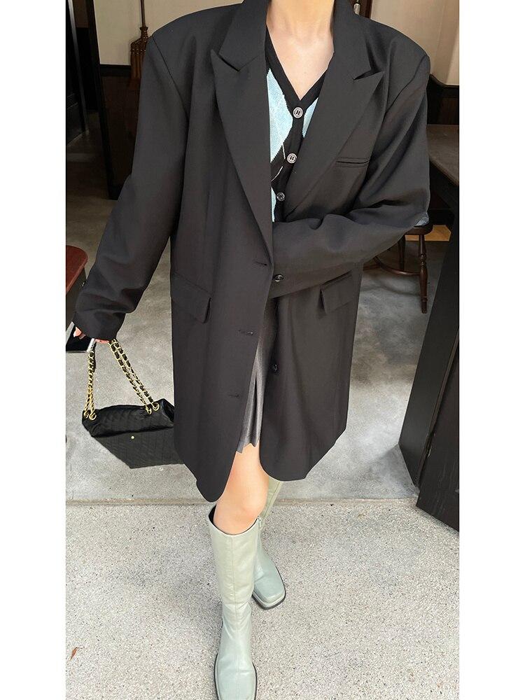 Black Suit Coat Women's Spring And Autumn 2021 New Design Sense Of High Sense Leisure Suit Women