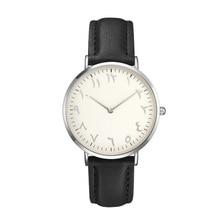 Fashion Simple Women Watch Arabic Numerals Simple Ladies Pu Leather Quartz Wristwatch Casual Student