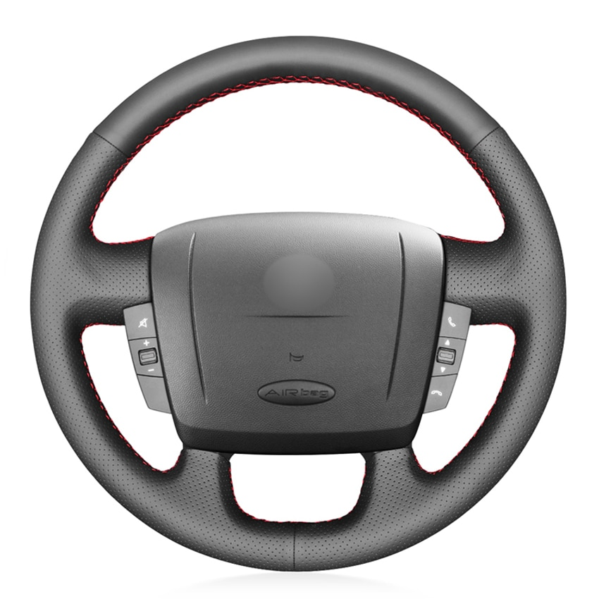 Black PU Leather Car Steering Wheel Cover for Fiat Ducato 2006-2019 Ram ProMaster (Cargo) (Cab Chassis) (Window) 2017-2020