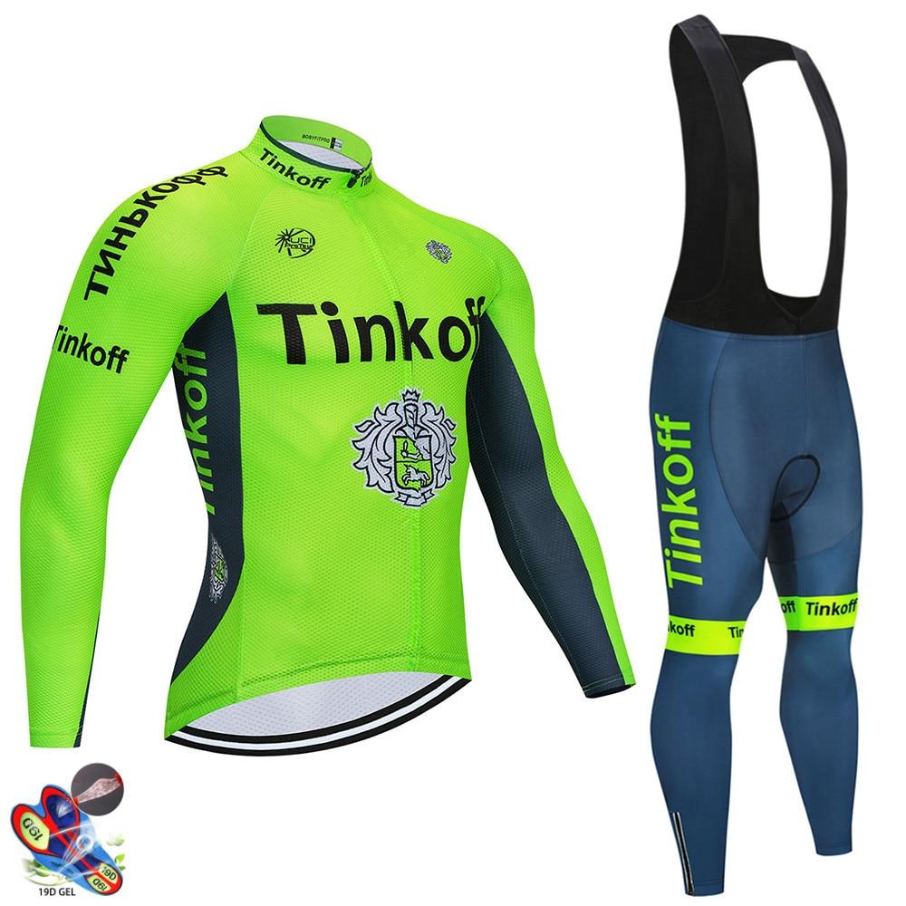 Tinkofing pro conjunto camisa de ciclismo manga longa respirável mtb bicicleta roupas wear ciclismo ropa maillot