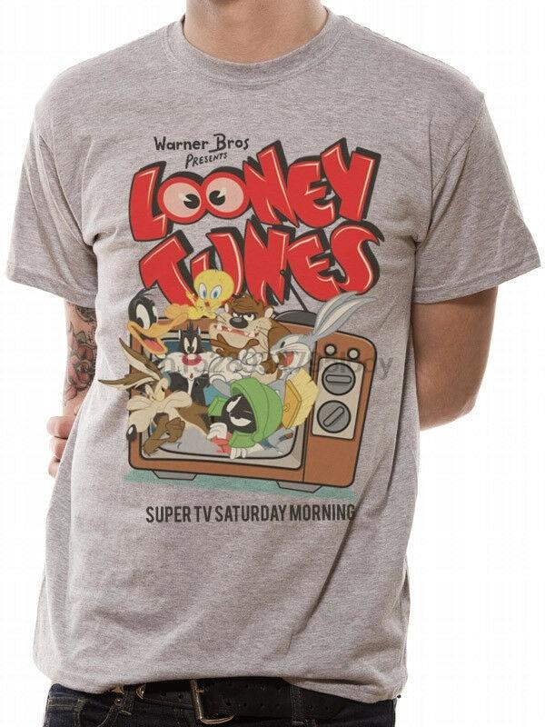3044 retro tv camiseta looney tunes wile e coyote estrada corredor taz daffy pato twee
