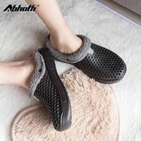 abhoth men sandals winter warm comfortable hole slipper flat breathable light casual shoes outdoor men shoes zapatos de hombre