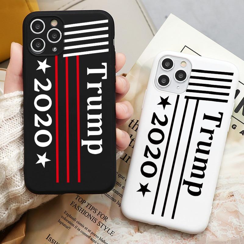 Модный дизайн 2020, телефонный чехол с изображением Дональда Трампа на тему выборов для iphone 11 pro X XS MAX XR 7 8 6 6s plus, мягкий чехол для телефона для ф...