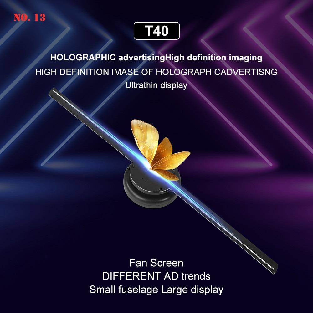 3D Holographic Projection Fan Hologram Projector Advertising Display Hologram Fan Holographic Imaging Lamp logo Light EU/US/UK