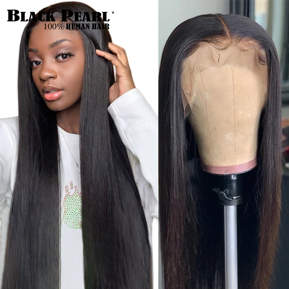 Bone Straight Human Hair Wigs 360 Lace Frontal Wigs Pre Plucked Brazilian Human hair Straight Lace F