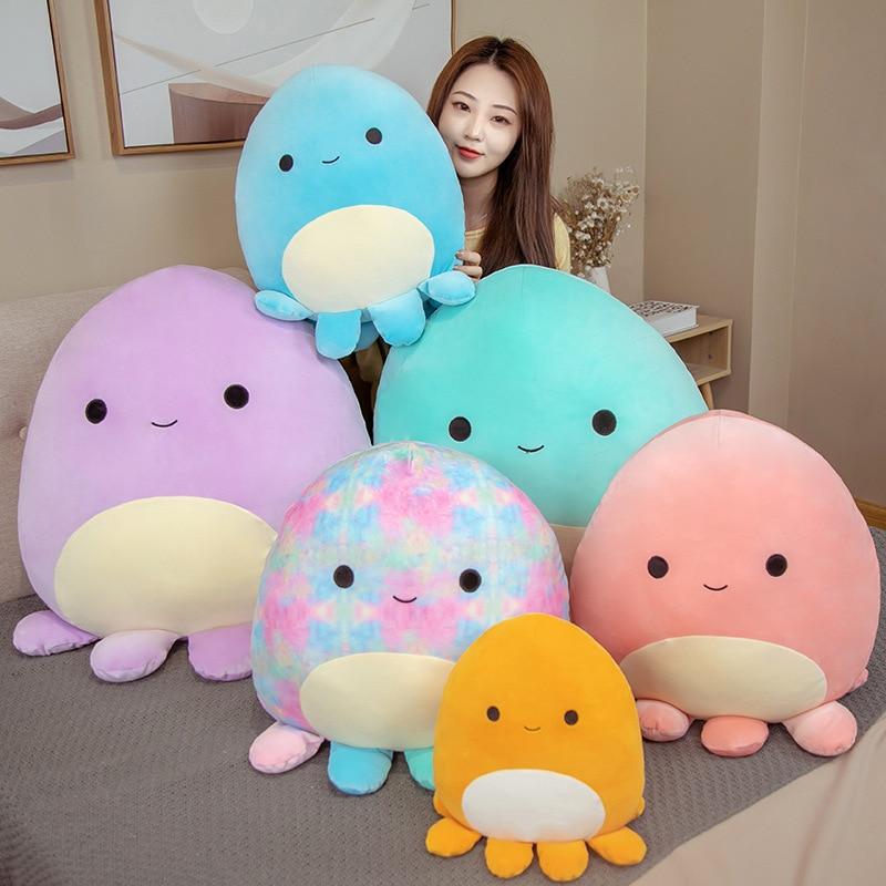 2021 New Cartoon Lovely Octopus Plush Stuffed Toy Soft Animal Soft Octopus Pillow Cute Animal Doll Children Birthday Gift недорого
