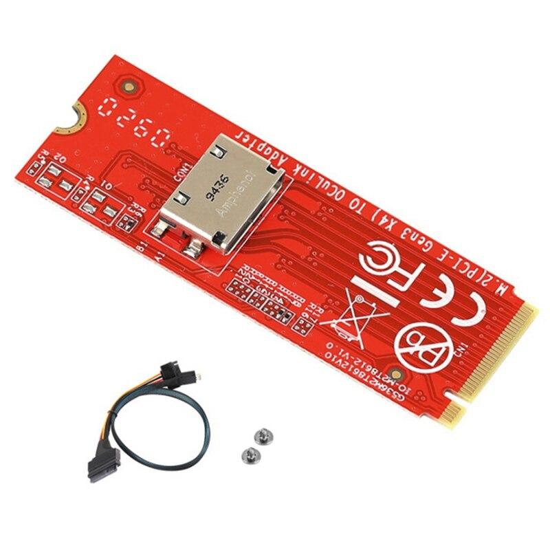 ل بكيي NVMe SSD X4 محول IO-ADA86121 M.2 M-مفتاح بكيي 3.0 إلى كوة الحبر SFF-8612 المضيف