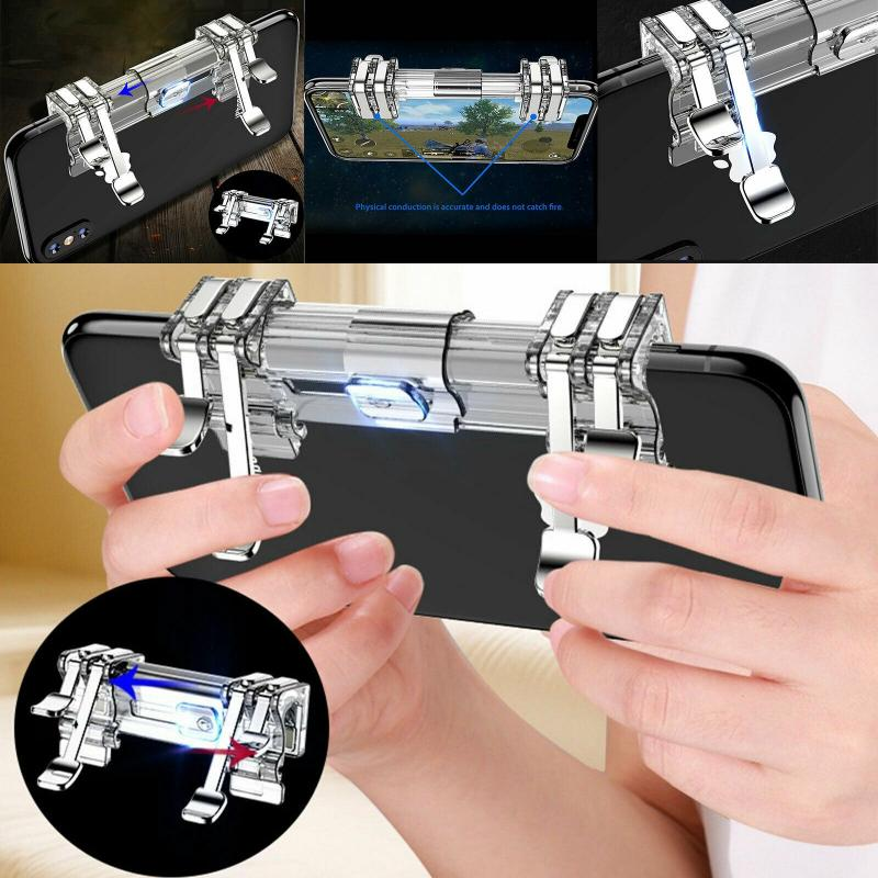 Игровой триггер PUBG, джойстик, ручка для шутера L1R1, кнопка прицела, контроллер, геймпады для IPhone, Android, мобильный телефон