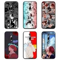 shoto todoroki my hero phone case for redmi 9a 9 8a 7 6 6a note 9 8 8t pro max k20 k30 pro