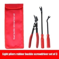 3pcs clip pliers set and fastener remover auto upholstery combo repair kit with storage bag for car door panel dashboard