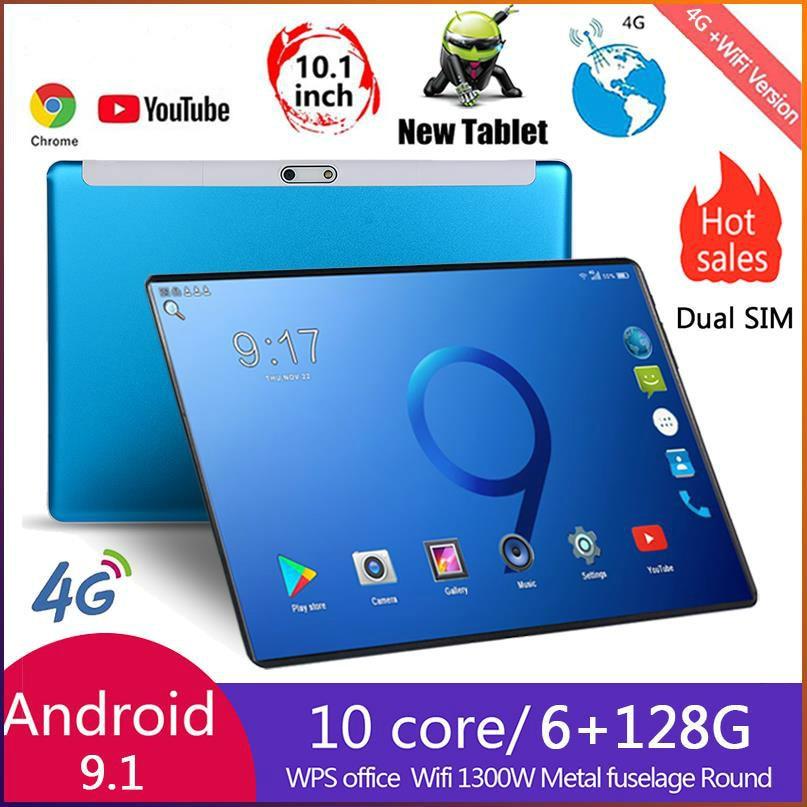 2021 zehn Core 6G + 128GB Andriod 9,0 10 Zoll tablet Dual SIM 4G Telefon Tablet PC WIFI 6G RAM + 64/128G ROM Tablet GPS Phone Pad
