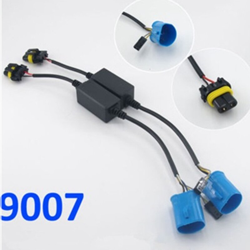 FSYLX 2PCS 9007 HB5 hid relay harness hid xenon kit 9007 H/L 9007 bixenon wiring harness hi lo controller wire cable harness