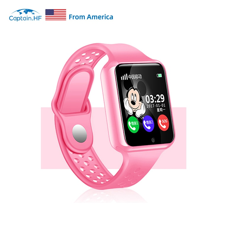 US Captain HF Kids Smart Watch IP67 Waterproof LBS/GPS Tracker Anti Lost Internet SOS WiFi Watch Touchscreen Watch for Children