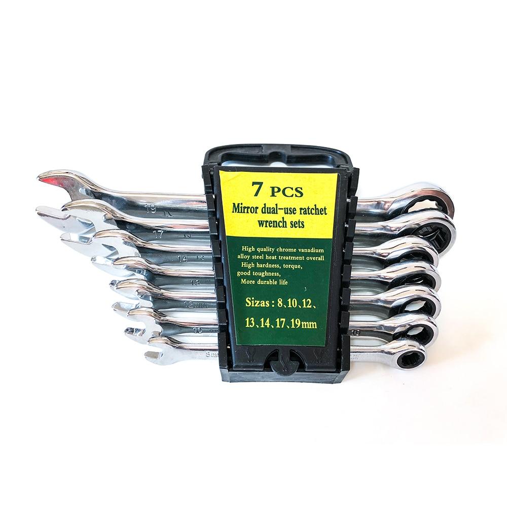 8-19 mm raktų rinkinio reketavimo dėžutės kombinuoti - Rankiniai įrankiai - Nuotrauka 5
