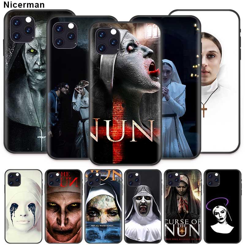 Hermana monja caso para Apple iPhone 11 X XR XS Max 7 7 6 6S Plus 5 5S SE 5C de silicona negro Cobrir de la cubierta del teléfono de Coque
