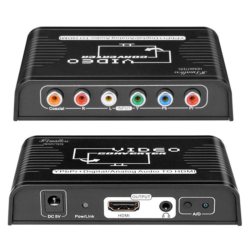 Componente Ypbpr a hdmi, cable convertidor compatible con hdmi, compatible con componente...