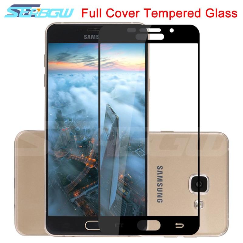 Cubierta completa 9D vidrio templado en La para Samsung Galaxy A3 A5 A7 2017 J3 J5 J7 2016 2017 Protector de pantalla de seguridad película protectora