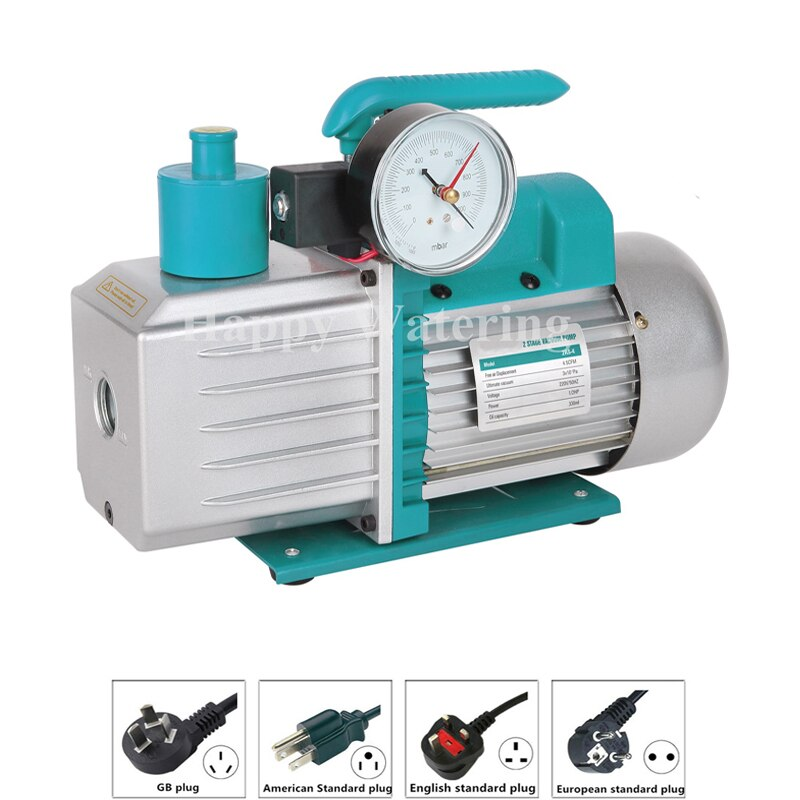 Mehrstufige Drehschieber 3CFM Mini Vakuum Pumpe Kälte 110V + Elektromagnetische Ventil HVAC R410a R134a R407C R22