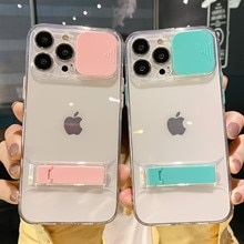 Slide Lens Camera Protection Clear Phone Case For iPhone 13 Pro Max 12 11 Pro Max XS Max XR X 8 7 Pl
