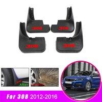 For Peugeot 308 Hatchback 2012 2013 2014 2015 2016 Car Mud Flaps For Fender Splash Guard Mudguard Accessories