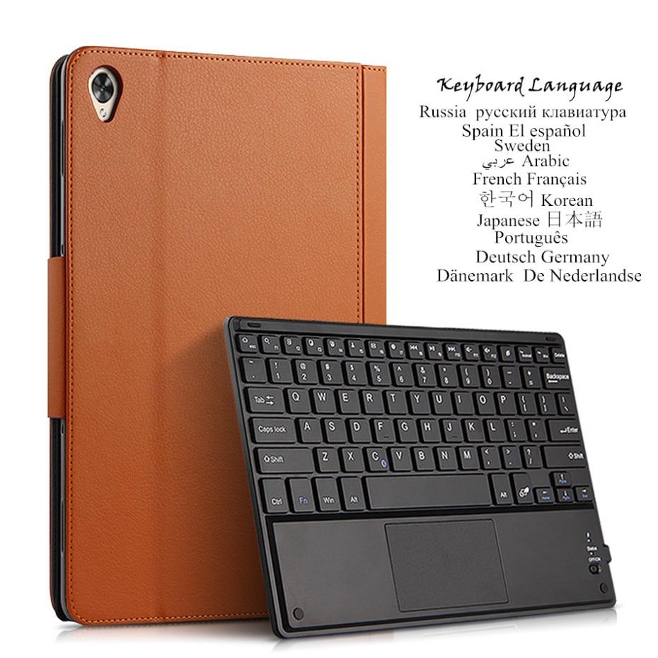 "Para Huawei MediaPad M6 Pro M6 10,8 ""caso VRD-L09 SCM-AL09 W09 Bluetooth teclado de cuero de la PU cubierta Idioma multilingüe"