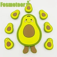 fosmeteor silicone rubber teether avocado diy baby teether rodent bpa free pacifier pendant chewing gum care stick