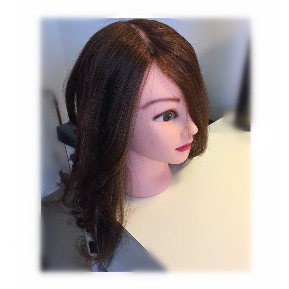 "18"" 100% real hair woman wig Mannequin Head For Hairstyles Long Hair Doll Head Hair Styling Manikin Head With Natural Hair Tete"