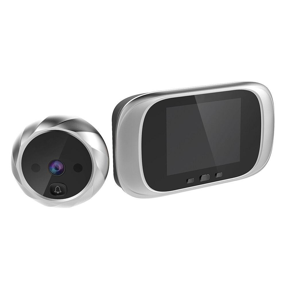 Цифровой дверной звонок с цветным ЖК-дисплеем 2,8 дюйма, дверной звонок с поворотом на 90 градусов, дверной звонок, внешний дверной звонок с ка...