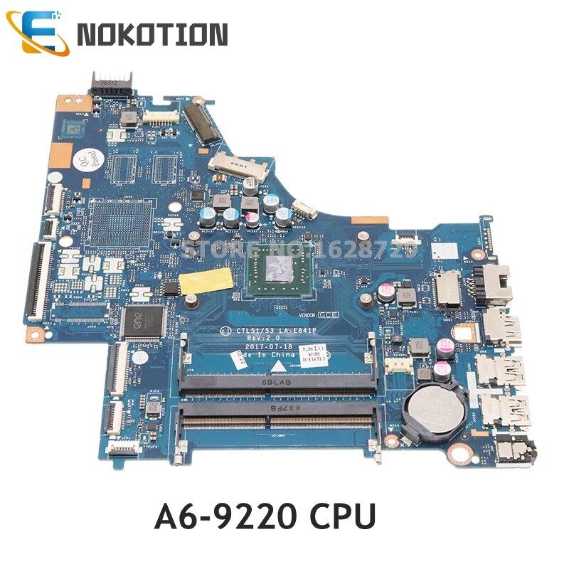 NOKOTION ل HP15-BW 255 G6 اللوحة المحمول DDR4 926268-601 924720-601 924720-001 CTL51 53 LA-E841P اللوحة الرئيسية
