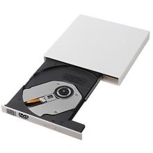 Ultra delgada ExternalB 2,0 CD-ROM CD-controlador de CD/DVD óptico conductor de CD portátil-conductor para PC portátil Windows XP WIN 7 #0803