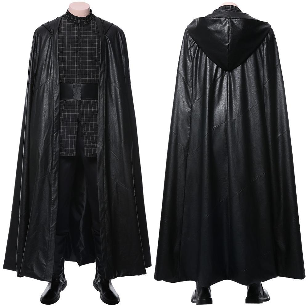 نجمة 9: Skywalker كيلو رن تأثيري حلي الكبار الرجال السراويل العليا عباءة رداء جيدي هالوين أزياء تنكرية