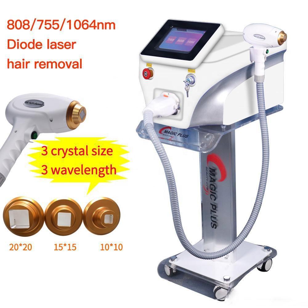 Máquina de depilación effetctive... removedor de pelo láser de diodo 3 longitudes...
