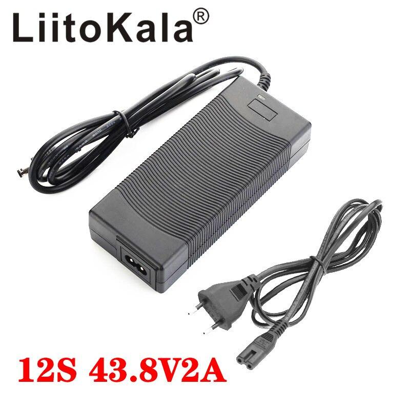 LiitoKala 36V 2A LiFePO4 cargador de batería salida 43,8 V 2A cargador 36V LiFePO4 cargador usado para 12S 36V batería de bicicleta eléctrica LFP