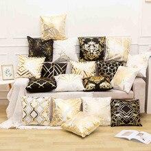 Kissen Fall Platz Gold Geometrische Ananas Glitter Polyester Sofa Dekorative Kissen Abdeckung Kissen Hause Decor 45x45cm 2019