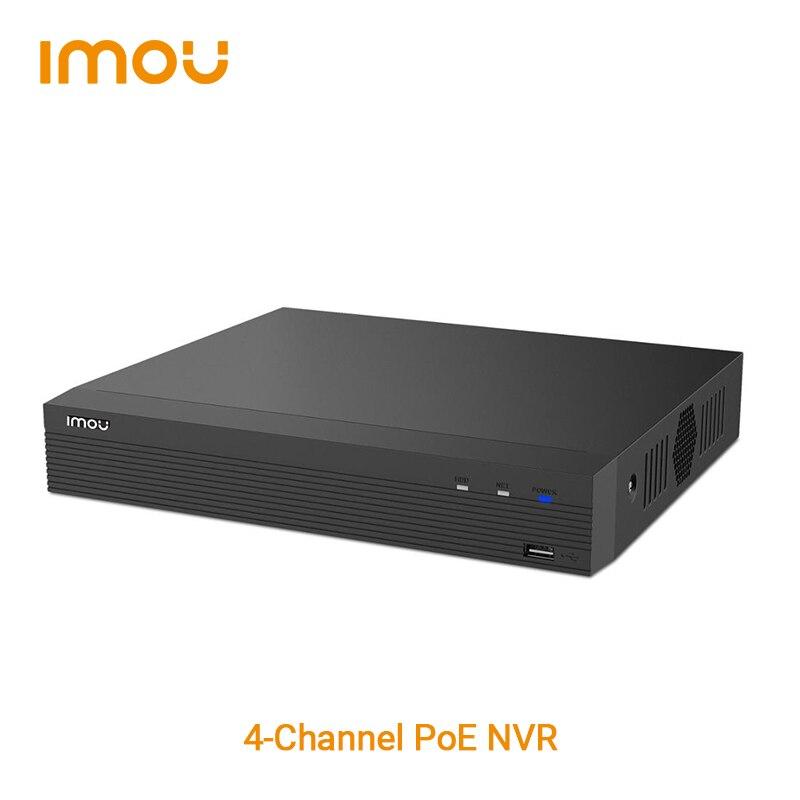 داهوا إيمو-مسجل إيثرنت عالي الطاقة ، 4 قنوات ، NVR ، 1080P FHD ، فيديو 4CH ، فك تشفير فائق ، تخزين 8 تيرا بايت بايت ، نظام تحدث ثنائي الاتجاه Cat 6 Net