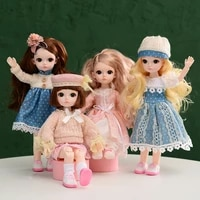 dream fair bjd 13 joints dolls for session 30cm16 kawaii baby tiny princess dress clothes curly dense hairs bonecas for girls