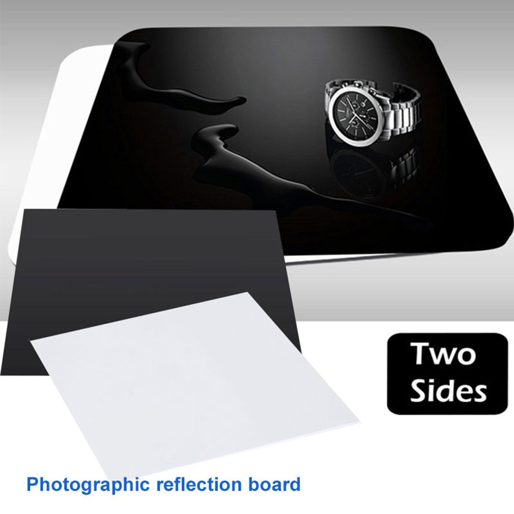 AliExpress - 20/30/40CM Photographic Reflection Board Plastic Board Acrylic White Black Background Studio Accessory Photo Display Board