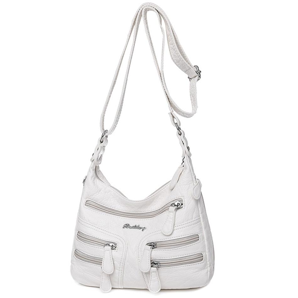 عالية الجودة المرأة حقائب كتف جلدية لينة متعددة الطبقات حقائب كروسبودي عادية للنساء الفاخرة مصمم المحافظ وحقائب اليد