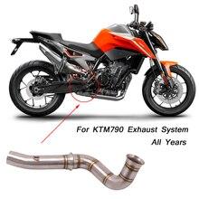 Silencieux déchappement Modification de tuyau en acier inoxydable   Pour moto KTM790 à la contre-pression et lien de tuyau moyen 51mm