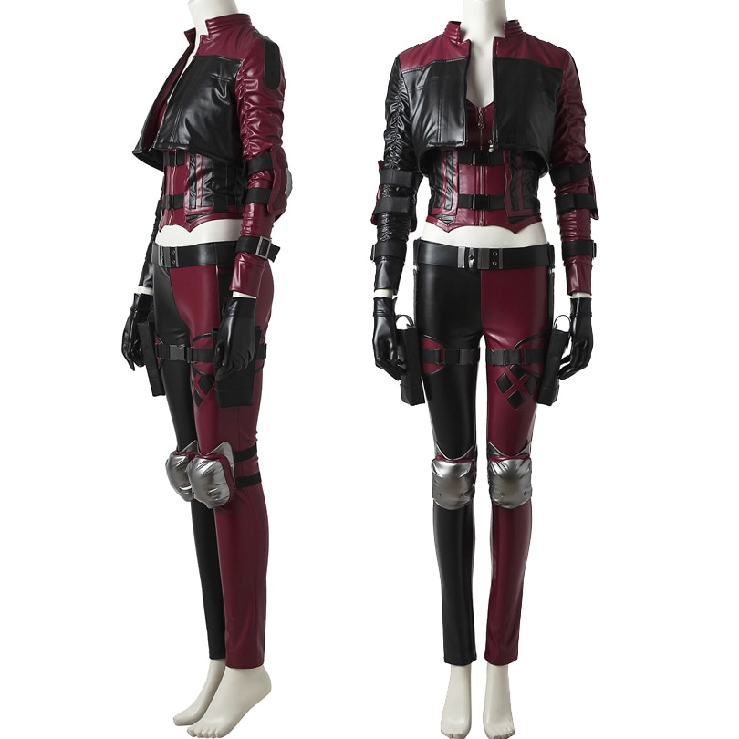 Injustice 2 Cosplay Joker Girl Costume Quinzel Fashion Outfit For Adult Women Halloween Carnival Clothing