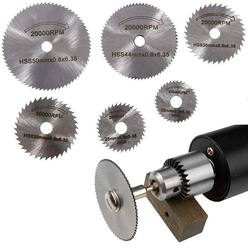 7PCS 25/32/50 HSS Circular Saw Blade Rotary Tool For Dremel Metal Cutter Power Tool Set Wood Cutting