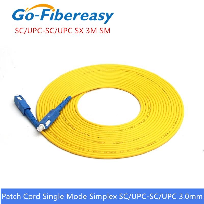 Fibra optica patch cord SC UPC-SC UPC monomodo Simplex 9/125um Fiber Optica...