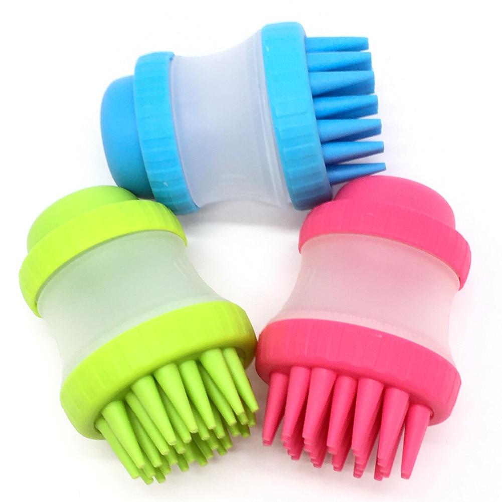 Pet Cleaning Bath Brush Foot Wash Beauty Massage Decontamination Shampoo Storage Cleaning Brush Pet