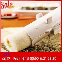 DIY Longevity Driver Roller Sushi Maker Roll Mold Making Kit Sushi Rice Meat Bento Accessories Making Kitchen Tools White/Black