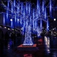 Valentine Waterproof 50cm 8 Tube Holiday Meteor Shower Rain LED String Lights For Indoor Outdoor Garden Wedding Party Decor Tree